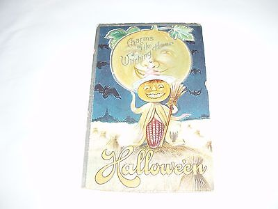 Vintage Halloween Postcard Charms of the Witching Hour Postmarked 1917