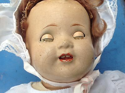 """Vintage 1930s American Character Composition Doll Baby Chuckles Antique 18"""""""