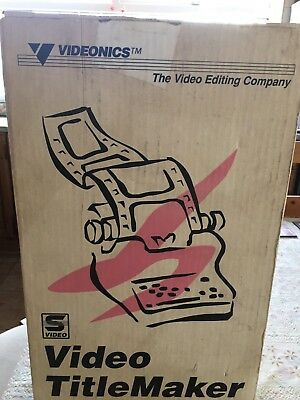 Vintage Videonics video titlemaker 1991 Model TM-1P Pal Boxed VHS Home Movie