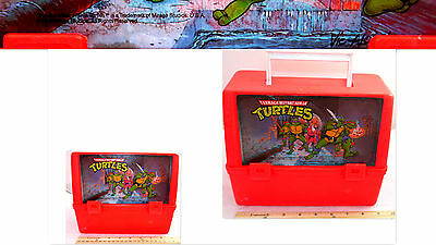 1988 Tmnt Teenage Mutant Ninja Turtles Thermos Plastic Lunchboxes Mirage Studios