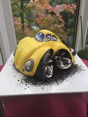 """Speed Freaks BEETLE """"BUG"""" Plinth included Ltd Ed Very Rare Highly Collectable!!"""