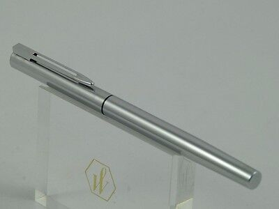 "Vintage Waterman Super Master Chrome Fountain Pen with Broad Nib,  ""Mint"""