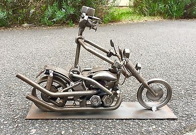 Hine & Kunst - from Nuts & Bolts Motorcycle Model Chopper Harley Sculpture Gift