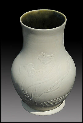 Louis Comfort TIFFANY Original Bisque Pottery Ceramic Signed Flower Vase Antique
