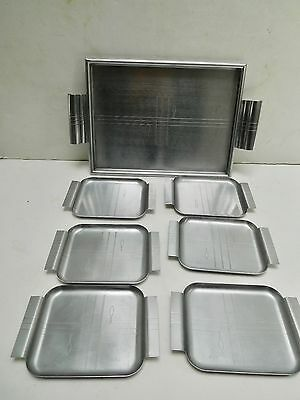 Set.1935 Norman Bel Geddes Appetizer tray, plates, snack hors d'oeuvres visakay