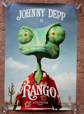 Rango Original UK one sheet movie posters