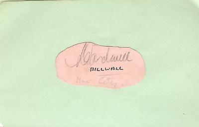 LOUIS CARDWELL 1930's> BLACKPOOL, MANCH CITY, CREWE etc HAND-SIGNED ALBUM PAGE