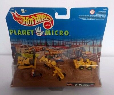 Hotwheels Planet Micro Cat Machines Diggers Construction New Boxed Free P&p