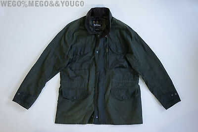 Barbour Waxed Jacket Original Tartan Men's Olive Size L Large