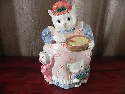 Fitz & Floyd 1988 Kittens of Knightsbridge Kitty Cat Cookie Jar