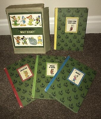 The Wonderful Worlds Of Walt Disney 1965 Hardback Book Set In Slipcase Box