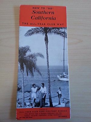"""1940 How To """"do"""" Southern California, Travel Tourism Brochure, All-Year Club"""