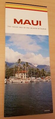 Vintage Maui The Valley Isle Of The Islands Of Hawaii Tourism Brochure & Map