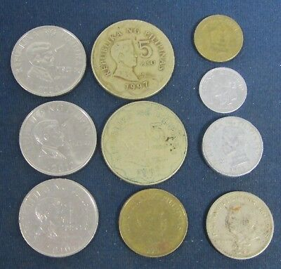 10 vintage Philipines coins