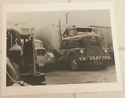 Acme Carriers Jersey City New York Freight Truck Vintage B&w Photograph