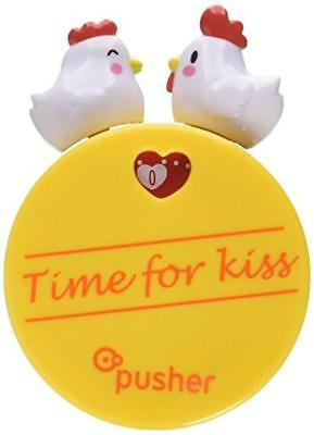 Pusher KISSING TIME GALLINE Timer, Plastica, Giallo, - NUOVO