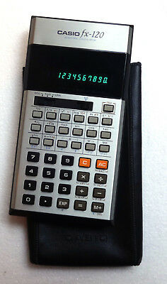 Calcolatrice Casio FX-120 Scientific Calculator Vintage Japan