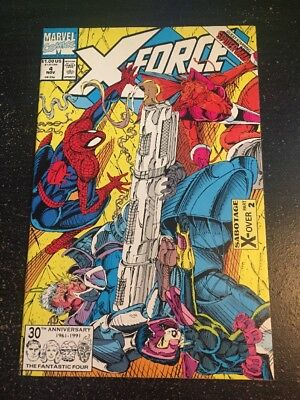 X-force#4 Incredible Condition 9.0(1991) Juggernaut,Spider-Man, Liefeld Art!!