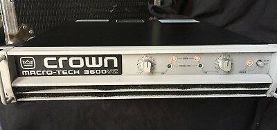 Crown Amplifier Macro-Tech 3600Vz - Used - In Working Order
