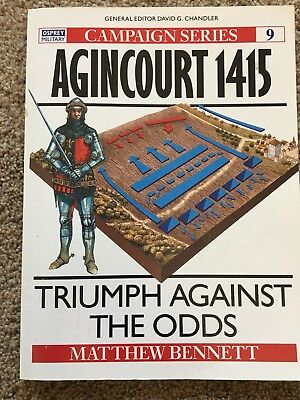 """Osprey Books """"Campaign"""" Series - Medieval Knights - Agincourt 1415"""