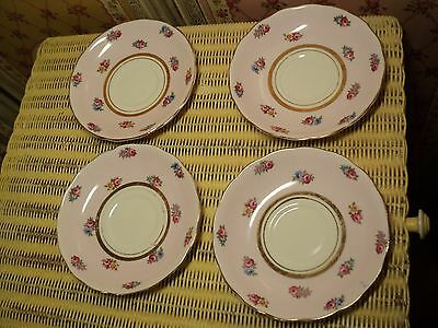 Colclough Bone China England saucers x 4 pretty floral pink