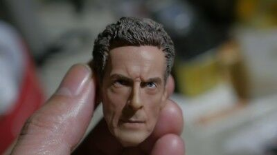 1/6 BBC Doctor Who head sculpt 12th Doctor Peter Capaldi fits hottoys sideshow