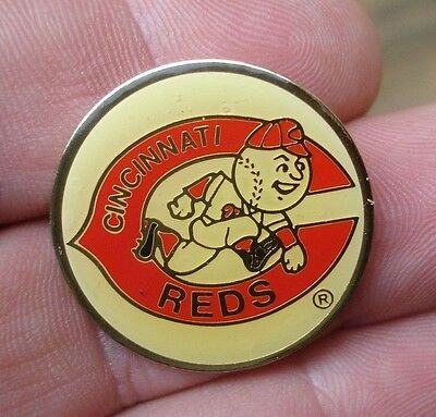 old vintage PIZZA HUT 1989 Cincinnati Reds Baseball premium commemorative pin
