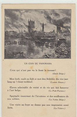 1 old postcard Ieper Ypres coin du panorama