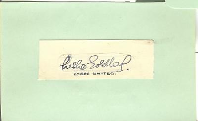 LESLIE GOLDBERG 1930's> LEEDS, READING etc HAND-SIGNED ALBUM PAGE