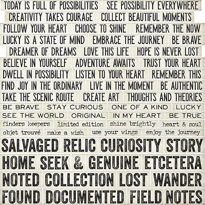 "Idea Ology Chipboard Quote Chips 58/Pkg Word & Phrases .625""X.75"" To 3.75""X.75"""