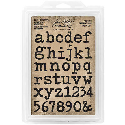 """Idea Ology Cling Foam Stamps 37/Pkg Type Lowercase Alpha .75"""" To 1"""" TH93579"""