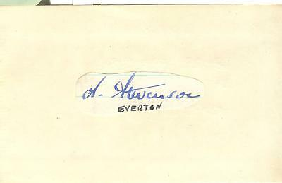 ALEX STEVENSON 1920's> RANGERS, EVERTON, IRELAND etc HAND-SIGNED ALBUM PAGE