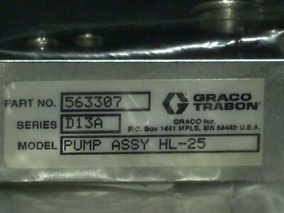 NEW Graco Trabon 563307 D13A HL-25 Lubricant Pump Assembly 2000 PSI Hardware USA