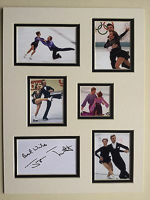 """Ice Skating Jayne Torvill Signed 16"""" X 12"""" Double Mounted Display"""