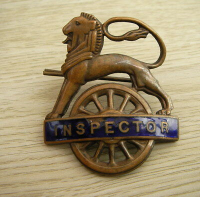 Vintage British Railways Cap Badge  Inspector With Securing Pin
