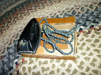 Vintage Ge Travel Iron**never Used** Cloth Covered Cord