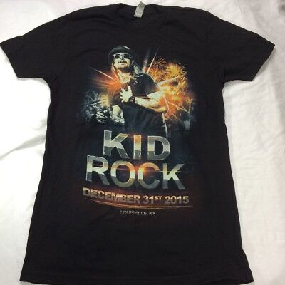 Kid Rock 2015 2016 New Years Kentucky Graphic Concert TShirt Sz S Lets Get Drunk