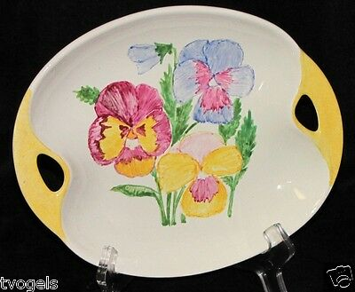 Vintage Lord Nelson England Ceramic Pottery Hand Painted Flowers Dish