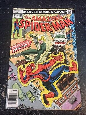 Amazing Spider-Man#168 Awesome Condition 5.0(1977) Will-o-the-Wisp App!!