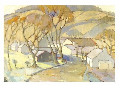 Postcard Art Frosty Morning Trow Mill, Scotland (1936) Anne Redpath MU2830 #2767
