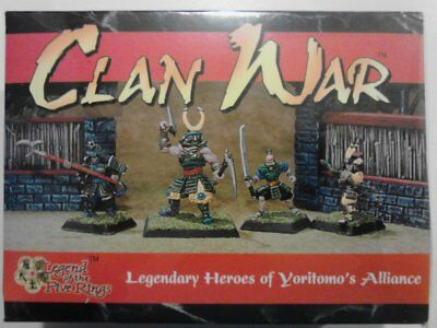 Clan War Legendary Heroes of Yoritomo's Alliance miniature 4 pack L5R AEG