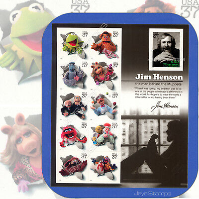 2005  JIM HENSON & THE MUPPETS  Complete Full PANE of 11 MINT 37¢ Stamps  #3944
