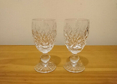 Waterford Crystal Sherry Liqueur Glasses  Irish Cut Glass 2 Available
