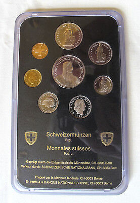 Commemorative Swiss Coinage UNC 1991.  Mint. 1cent to 5 FR.