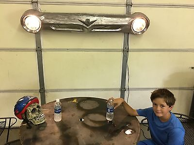 Vintage 1956 Ford pickup  bare metal grill automotive  Wall Art, man cave.