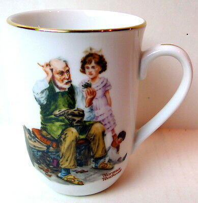 Norman Rockwell Cobbler Porcelain Collectible Mug
