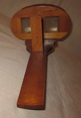 Vintage Wooden Stereoscope Viewer For Parts or Repair