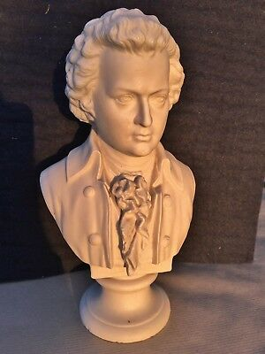 Bust Of Mozart In Parian Ware C 1950,s