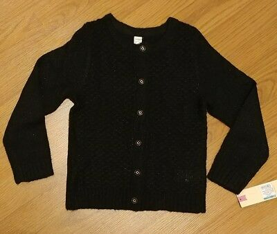 New Cherokee Toddler Girls Black Sweater Size 4T Sparkling