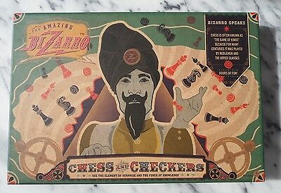 The Amazing Bizarro Chess and Checker Game New sealed in pack